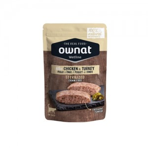 OWNAT WETLINE STERLIZED CAT - CHICKEN AND TURKEY