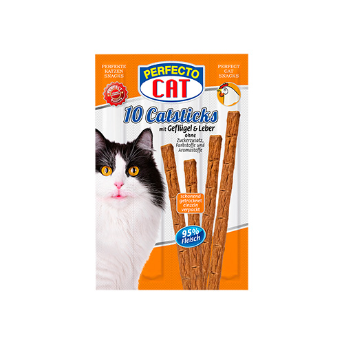 PERFECTO CAT CATSTICKS - AVES & FÍGADO