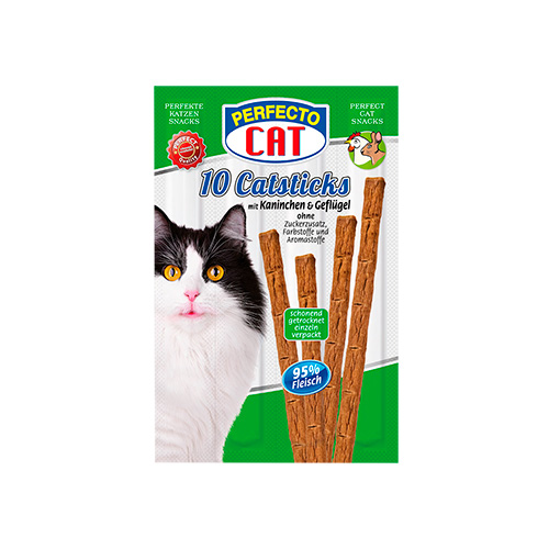 PERFECTO CAT CATSTICKS - COELHO & AVES