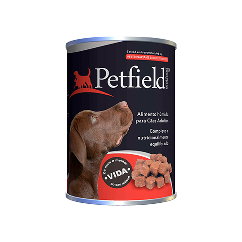 PETFIELD DOG WETFOOD BEEF - VACA