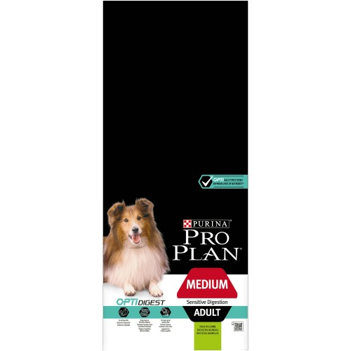 PRO PLAN ADULT MEDIUM SENSITIVE DIGESTION OPTIDIGEST BORREGO - PURINA