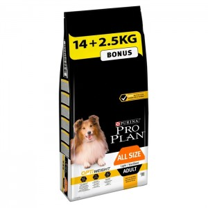 PRO PLAN ADULT ALL SIZE LIGTH / STERILIZED OPTIWEIGHT 14 + 2,5KG