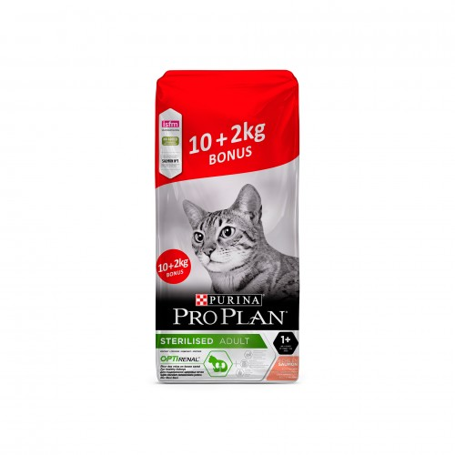 PRO PLAN GATO ADULT STERILISED SALMÃO 10 + 2KG