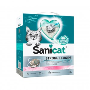 SANICAT ACTIVE WHITE STRONG CLUMPS BABY POWDER - AREIA ULTRA AGLOMERANTE