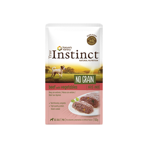 TRUE INSTINCT DOG NO GRAIN BEEF & VEGETABLES - PATÉ