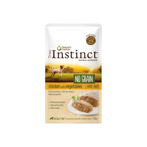 TRUE INSTINCT DOG NO GRAIN CHICKEN & VEGETABLES - PATÉ