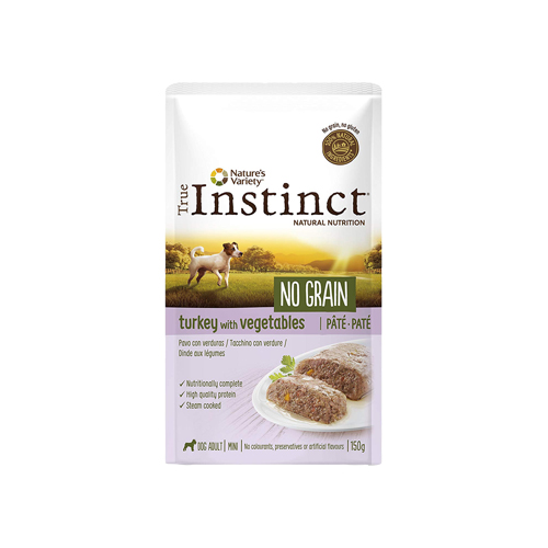 TRUE INSTINCT DOG NO GRAIN TURKEY & VEGETABLES - PATÉ