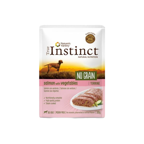 TRUE INSTINCT DOG NO GRAIN SALMÃO & VEGETABLES - TERRINE