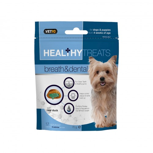 HEALTHY TREATS BREATH & DENTALT FOR DOGS AND PUPPIES - VETIQ