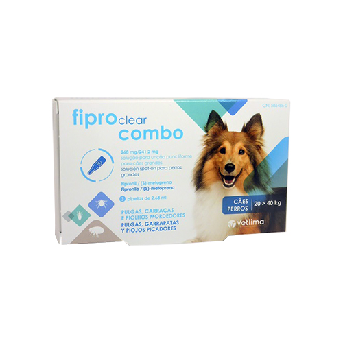 FIPROCLEAR COMBO CÃO - 3PIPETAS